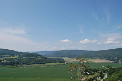 Schoharie Valley from Vroman's Nose. photo by Andy Coates