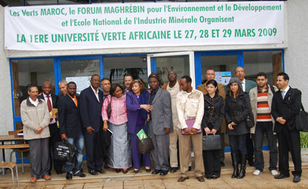 Participants at the African Green University, Rabat, Morocco, March 27-29, 2009