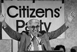 Dr Barry Commoner at the Citizens Party's first national convention. Bettmann/Corbis/Ap Images